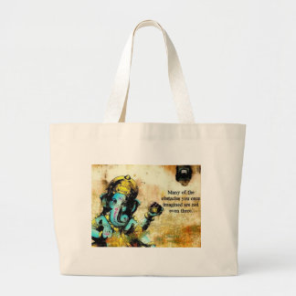 Ganesh Ganesha Hindu India Asian Elephant Deity Large Tote Bag