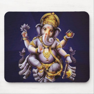Ganesh Ganesha Hindu India Asian Elephant Deity Mouse Pad