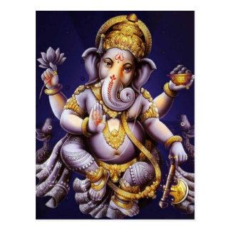 Ganesh Ganesha Hindu India Asian Elephant Deity Postcard
