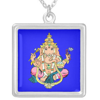 Ganesh [Ganesha] Sterling Silver Pendant Necklace