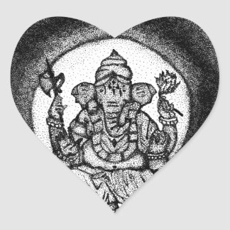 ganesh heart sticker