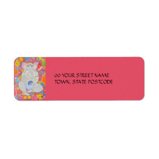 Ganesh pink Return Address Label