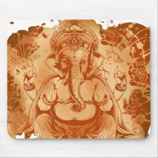 ganesh rust splash mouse pad