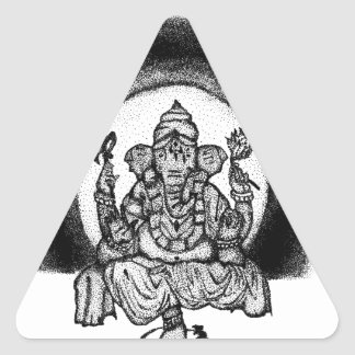 ganesh triangle sticker
