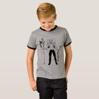 Ganesh Warrior Kid's Ringer T-Shirt