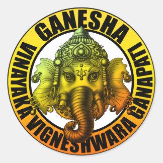 Ganesha2 Classic Round Sticker