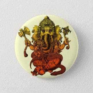 Ganesha7 2 Inch Round Button