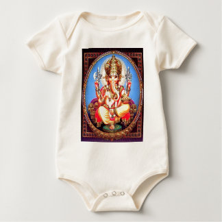 Ganesha (गणेश) Indian Elephant Baby Bodysuit