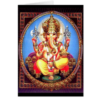 Ganesha (गणेश) Indian Elephant Card