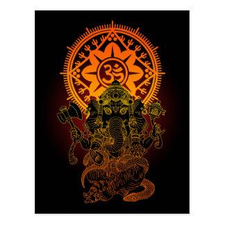 Ganesha 02 postcard