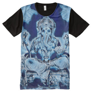 Ganesha Blue God Indie Cobalt Acrylic Art
