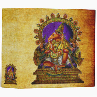Ganesha Deva antique 3 Ring Binder