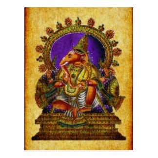 Ganesha Deva antique Postcard