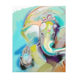 Ganesha - elephant buddha - art print on canvas