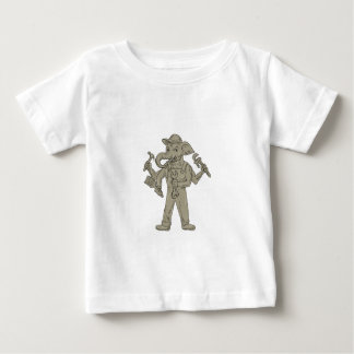 Ganesha Elephant Handyman Tools Drawing Baby T-Shirt