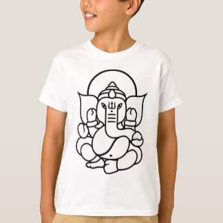 Ganesha Elephant No. 3 (black white) T-Shirt