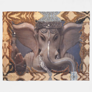 Ganesha Fleece Blanket