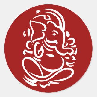 Ganesha - Hindu God Sign Round Sticker