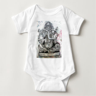 Ganesha in Charcoal Baby Bodysuit