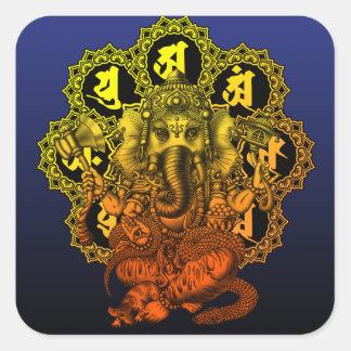 Ganesha Mandala2 Square Sticker