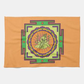 Ganesha Mandala Kitchen Towel