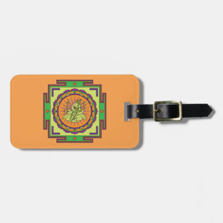 Ganesha Mandala Luggage Tag