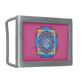 Ganesha Mandala Rectangular Belt Buckles