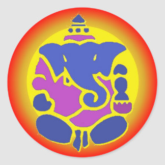 Ganesha Rainbow Mandala Sticker