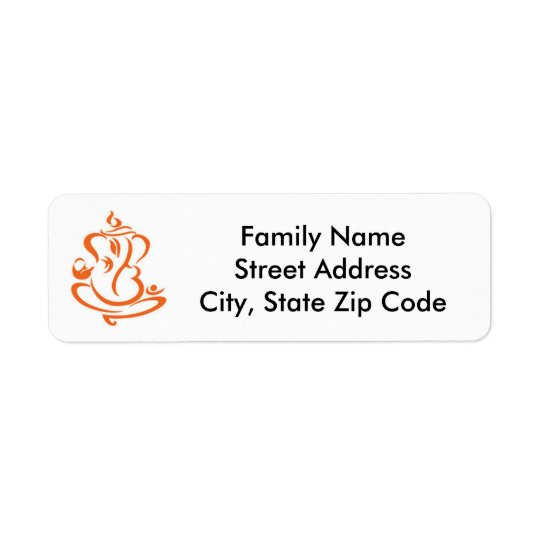 Ganesha Return Label Return Address Label