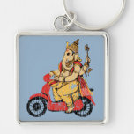 Ganesha Riding a Scooter Keychain
