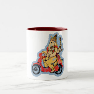 Ganesha Riding a Scooter Coffee Mug