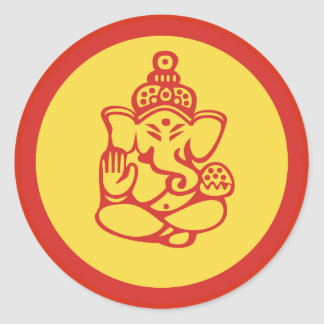 Ganesha Round Sticker