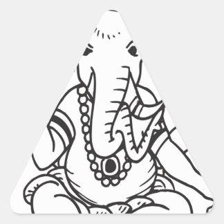 Ganesha Triangle Sticker