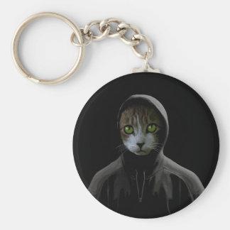 Gangsta cat keychain
