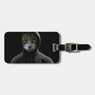 Gangsta cat luggage tag