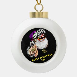 Gangsta Claus Christmas Tree Ornament