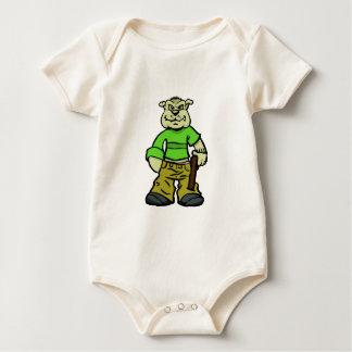 Gangsta dog baby bodysuit