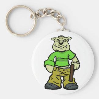 Gangsta dog basic round button keychain