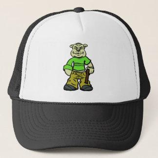 Gangsta dog trucker hat
