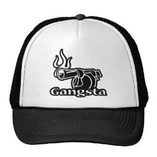 Gangsta - Gangster Revolver Gun Pistol Mesh Hat