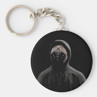Gangsta pug keychain