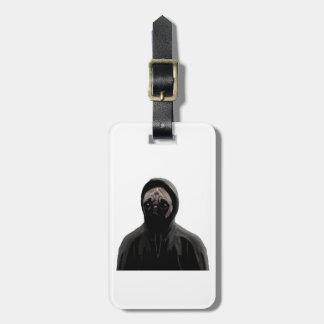 Gangsta pug luggage tag