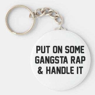 Gangsta Rap & Handle It Basic Round Button Keychain