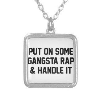Gangsta Rap & Handle It Silver Plated Necklace
