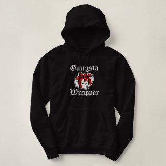 Gangsta Wrapper funny Christmas womens hoodie