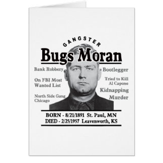 Gangster Bugs Moran Card