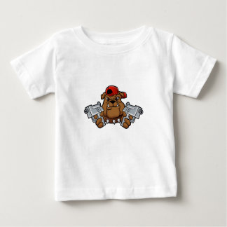 gangster bulldog  with pistols baby T-Shirt