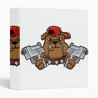 gangster bulldog  with pistols binder