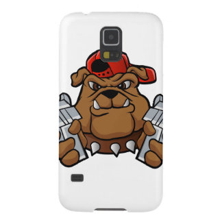 gangster bulldog  with pistols cases for galaxy s5