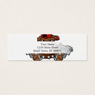 gangster bulldog  with pistols mini business card